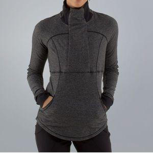10 Lululemon Base Runner Herringbone half zip coat
